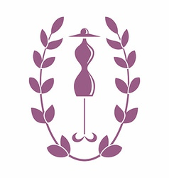 Tailoring emblem with mannequin or dummy vector image
