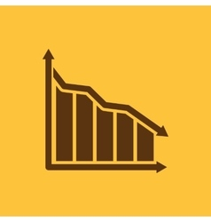 The graph down icon Chart below and loss vector image