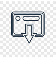 transaction concept linear icon isolated on vector image
