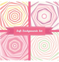Vortex abstract backgrounds set in sweet pastel vector