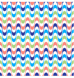 waves geometric seamless pattern simple wavy vector image