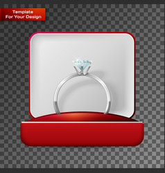 wedding rings in a gift box vector image