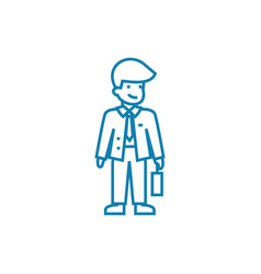 working mood linear icon concept working mood vector image