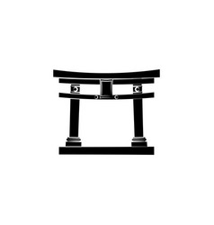 World attractions thorium torii the sacred gate vector