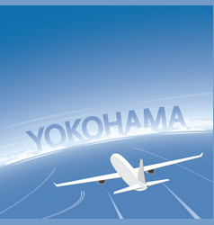 Yokohama flight destination vector