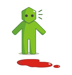 Hexagon Man - I Found Blood Spots vector image