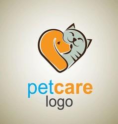 pet care logo 6 vector image