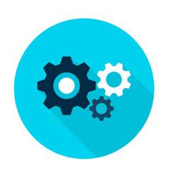 three gear flat circle icon vector image vector image