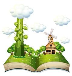 Beanstalk book vector image
