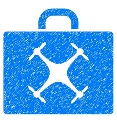 Drone Case Grainy Texture Icon vector image