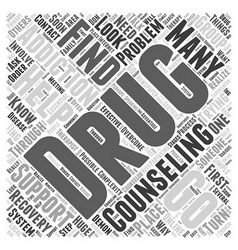 Drug addiction counseling word cloud concept vector