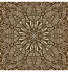mandala brown circular pattern background vector image vector image