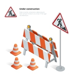 Road repair under construction road sign Repairs vector image vector image