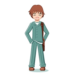 teenage student vector image