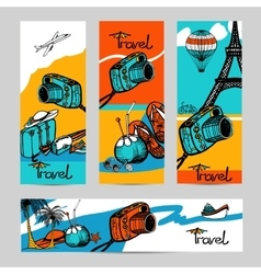 Travel Photo Banner Set vector image vector image