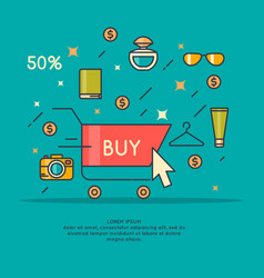 best sale in cartoon style vector image vector image