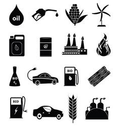Bio fuel icons set vector image