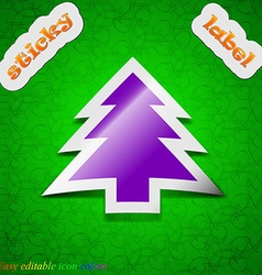 Christmas tree icon sign Symbol chic colored vector image vector image