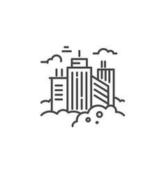 city line icon vector image