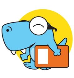 Dino bring book vector