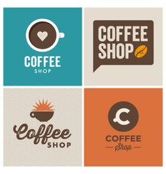 Logo coffee shop vector