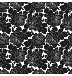 Romantic roses seamless pattern in retro style vector image