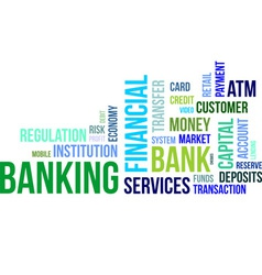 word cloud banking vector image
