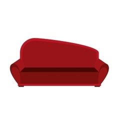 big red couch graphic vector image