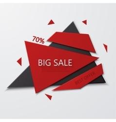 modern big sale and best offer banner on vector image
