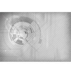 tech background grey vector image