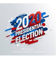 2020 usa presidential election banner vector image