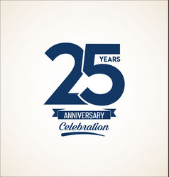 25 years anniversary black template background vector