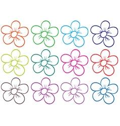 A floral seamless design vector image