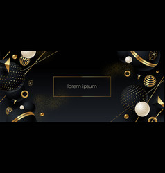 Abstract background with black geometric shape vector