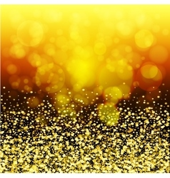 abstract golden glow christmas background vector image