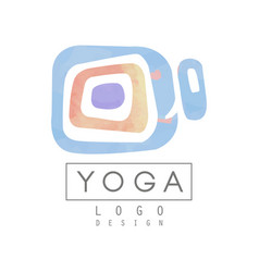 Abstract logo template for yoga studio or vector