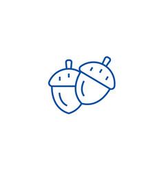 acorn line icon concept acorn flat symbol vector image