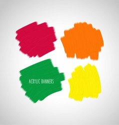 Acrylic design elements vector