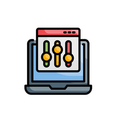 Admin panel style vector