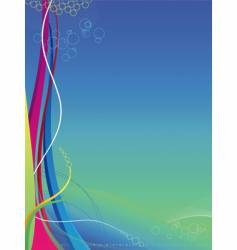 background colorful waves and lines vector image
