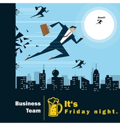 Business Idea series Business Team 4 concept vector image