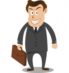 businessman carrying suitcase vector image