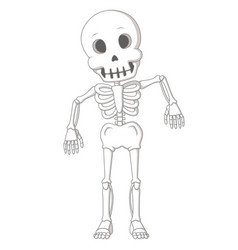 cartoon funny human skeleton dance vector image vector image