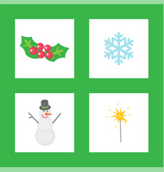christmas mistletoe symbols of winter holiday vector image