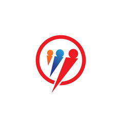 Community logo people template vector