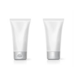 cream tube realistic packing mockup vector image
