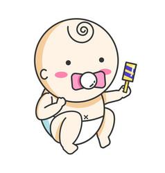 cute baby vector image