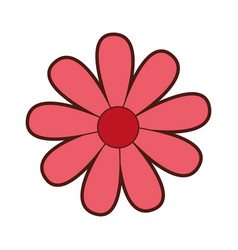Cute flower drawing decorative vector