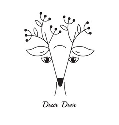 Dear Deer simple Logo vector
