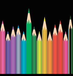 different sized and colored pencils vector image